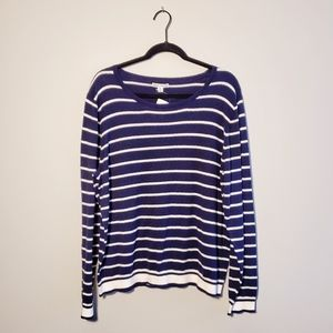 NWT J. Crew Mercantile Navy Blue Striped Sweater